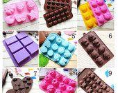 15 types mignon gâteau Silicone moule / Cake moule /Mold chocolat moule Silicone adapté pour la fabrication d'un gâteau, pain, gelée, chocolat, pudding