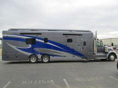 Recent Showhauler Motorhome. Bus Camper, Rv Campers, Luxury Motorhomes, Rv Motorhomes, Rv Truck, Dually Trucks, Campers World, Super C Rv, Motorhome Conversions