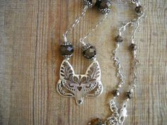 SILVER FOX WOODLAND NECKLACE available at VINTAGE PORTAL on ETSY