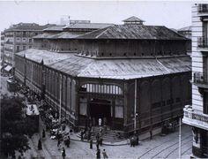 Mercado de la Cebada. Madrid, 1929. Autor: Jesús García Férriz. El edificio hoy no existe.