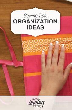 Organization Ideas and Designer Tricks DVD   National Sewing Circle