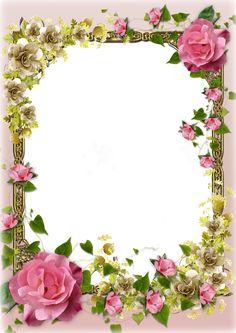 Border with roses Frame Border Design, Boarder Designs, Page Borders Design, Photo Frame Wallpaper, Framed Wallpaper, Flower Wallpaper, Rose Frame, Flower Frame, Picture Borders
