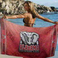Alabama Crimson Tide Beach Towel: 30x60 Fiber Reactive