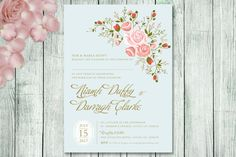 Charming Bouquet Invitation by AppleberryPaperGoods on Etsy