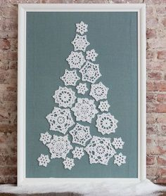 "redheartyarns: "" LW4860 Tree of Snowflakes Free Crochet Pattern in Red Heart…"