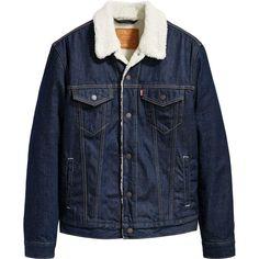 Levi's® Womens Sherpa Lined Denim Trucker Jacket New With Defect (Dark Blue) Sherpa Denim Jacket, Levis Jacket, Cool Jackets, Jackets For Women, Womens Sherpa, Sherpa Lined, Denim Outfit, Dark Denim, Denim Fashion