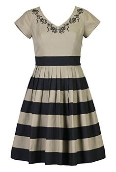 eShakti Women's Paisley embellished banded stripe dress XS-0 Short Khaki/black eShakti http://www.amazon.com/dp/B00NHQXH9U/ref=cm_sw_r_pi_dp_TXMhub1FEF9ES
