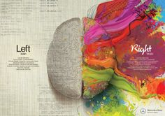 Mercedes Benz: Left Brain - Right Brain, Paint | Ads of the World™