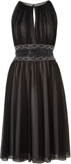 Js Collections Mesh Beaded Keyhole Dress @Lyst