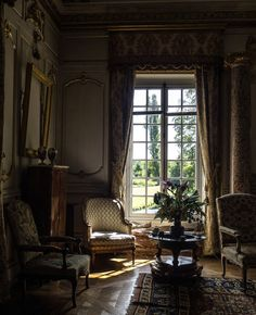 The Painted Chateau French Interior, Classic Interior, French Decor, Style At Home, French Architecture, Interior Architecture, Interior Decorating, Interior Design, Interior Exterior