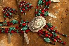 Feather & Concho Necklace