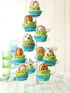 Sports Cupcakes