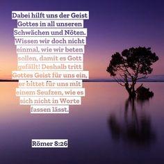 #heiligerGeist #hilfe #helfer #beten #gebet #eintreten #positiv #fürdich #gott #jesus #sohngottes #bibel #bibelvers #römer #römer8 #paulus #stewi #schwäche #not #seufzen Helfer, Holy Spirit, Pray, First Aid