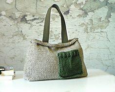 Borsa di maglia donna, autunno autunno moda, NzLbags - colore pastello Knit Bag, donne borsetta - borsa tracolla