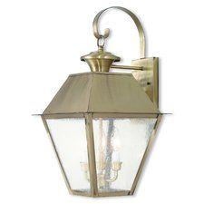 Cynda 3-Light Outdoor Wall Lantern