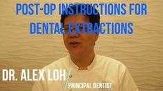 "https://youtu.be/JPIs8HyF_xs  This episode, I talk about how to look after yourself following a dental extraction. Do the right things, and healing is faster and less painful. Do the wrong things, and you can end up with a ""dry socket""."
