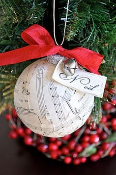 DIY music ornament- Perfect gift for our piano teacher!