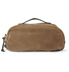 J.Crew Abingdon Waxed-Canvas and Leather Wash Bag | MR PORTER (for me)