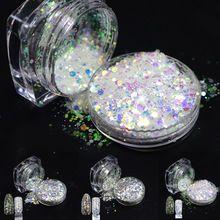 1 botella de Uñas Glitter Brillante Shinny Rombo Hexagonal Paillette Del Clavo 3d Decoraciones del Arte del Clavo Del Polvo Del Polvo Polaco Tips T01-04(China)