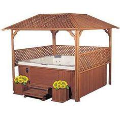 Hot tub with covering...yep yep definitely in my garden