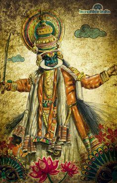 """incredible india"" Kathakali by prasadesign.deviantart.com on @deviantART"