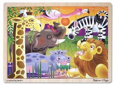 Melissa and Doug! I wish you they weren't so expensive but they are the best children's puzzles