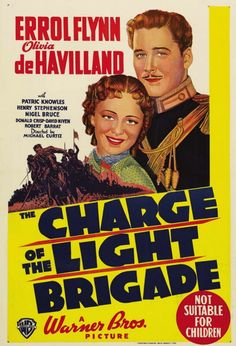 THE CHARGE OF THE LIGHT BRIGADE (1939) - Errol Flynn - Olivia DeHavilland - Directed by Michael Curtiz - Warner Bros. - Australian movie poster.