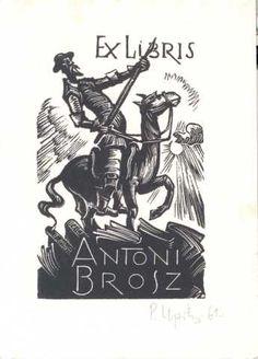 Upitis, Peteris Augustovich; Letonia    EX LIBRIS ANTONI BROSZ, 1962    (Brosz, A.; Polonia)