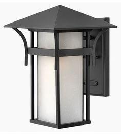 Hinkley Lighting Harbor 1 Light Outdoor Wall Lantern in Satin Black 2574SK