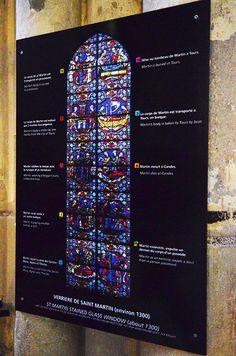 Cathédrale Saint-Gatien à Tours (37000) - Verrière de saint Martin.