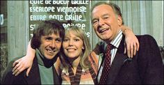 Richard O'Sullivan (as Robin Tripp), Tessa Wyatt (as Robin's girlfriend - and later wife - Vicky), and Tony Britton (as her father James Nicholls) in Robin's Nest which originally ran 11 January 1977 – 31 March 1981.  Robin's Nest was the second successful spin off from the hugeley popular Man About The House (the other being George and Mildred).