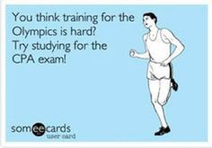 Sure does feel like it! / You Think the Olympics is Hard - Try the CPA Exam - CPA Journey - CPA Zone #cpaexam #cpajourney