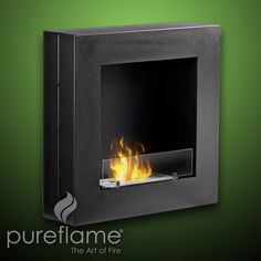 Pureflame Hayden - Wall Mounted Ethanol Fireplace