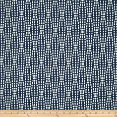 Waverly Strands Jacquard Navy from @fabricdotcom  Refresh and modernize any home decor with this heavyweight jacquard fabric. This fabric is an appropriate weight for accent pillows, slipcovers and upholstering furniture, headboards and ottomans.  Colors include navy and white. This fabric has 51,000 double rubs.