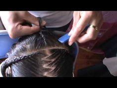 Peinados Infantiles en forma de Corazon, pajecita, Trenzas, quinceañera, tutorial, novias, prom. - YouTube