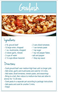 DIY: Goulash Recipe DIY: Goulash Recipe,Food Screen Shot at PM pasta recipes dinner recipes for family recipes recipe recipes Easy Goulash Recipes, Easy Dinner Recipes, Soup Recipes, Cooking Recipes, Healthy Recipes, Hamburger Meat Recipes Easy, Recipies, Meatball Recipes, Casserole Recipes