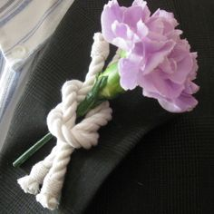 Nautical Boutonniere for your groom, best man and usher for your seaside wedding. The reef knot, known as a square knot on land, is used to reef down your sail to keep sailing through the adventures o                                                                                                                                                                                 More