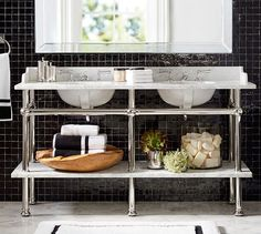 Apothecary Double Sink Console