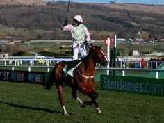 Ruby Walsh winning the Champion Hurdle with Faugheen.
