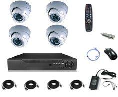 طقم 4 كاميرات مراقبة داخلي 900 خط وجهاز تسجيل دي في أر وجميع ملحقات التركيب price, review and buy in Egypt, Amman, Zarqa | Souq.com