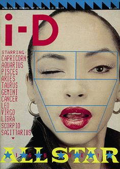 F-MONDE: i-D Magazine Cover Photos. Nice placement of nameplate and sell lines