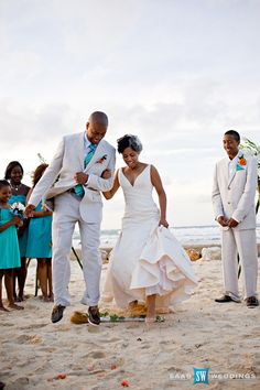 According to the book Life in Black and White: Family and Community in the Slave South, when they did marry, they had informal weddings.