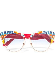 Multicolored acetate Come in a hard case and presentation box 100% UV protection Made in Italy
