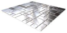 Modern Cobble Pattern Stainless Steel Mosaic Tile, Sheet - contemporary - Tile - Eden Mosaic Tile
