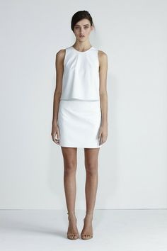 Hightide Skirt - White Leather | Secret South