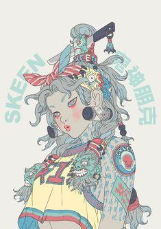 Fantasy Character Design, Character Design Inspiration, Character Art, Arte Cyberpunk, 3d Figures, Japon Illustration, Foto Art, Pretty Art, Character Illustration