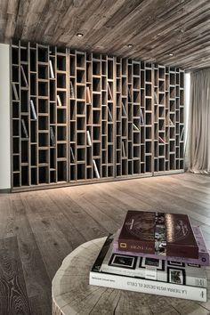 bookcase | at hotel wiesergut | austria | by gogl architekten