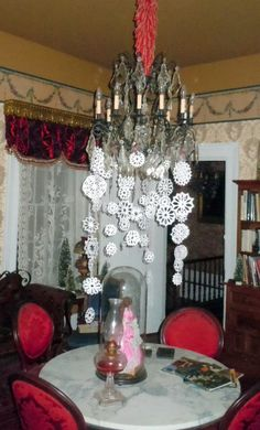 Christmas at the 1845 Historic Elgin/Cottrell House Museum in Clarksville,mo. 2012