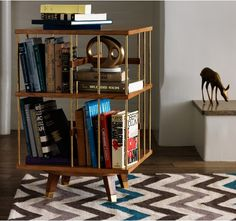 Every room needs books.  I love this small and stylish shelf.