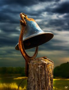 To call the family for dinner? To bring the cows or sheep home? The bell waits ...